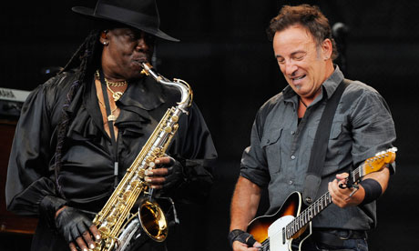 Clarence Clemons Playing with Bruce Springsteen