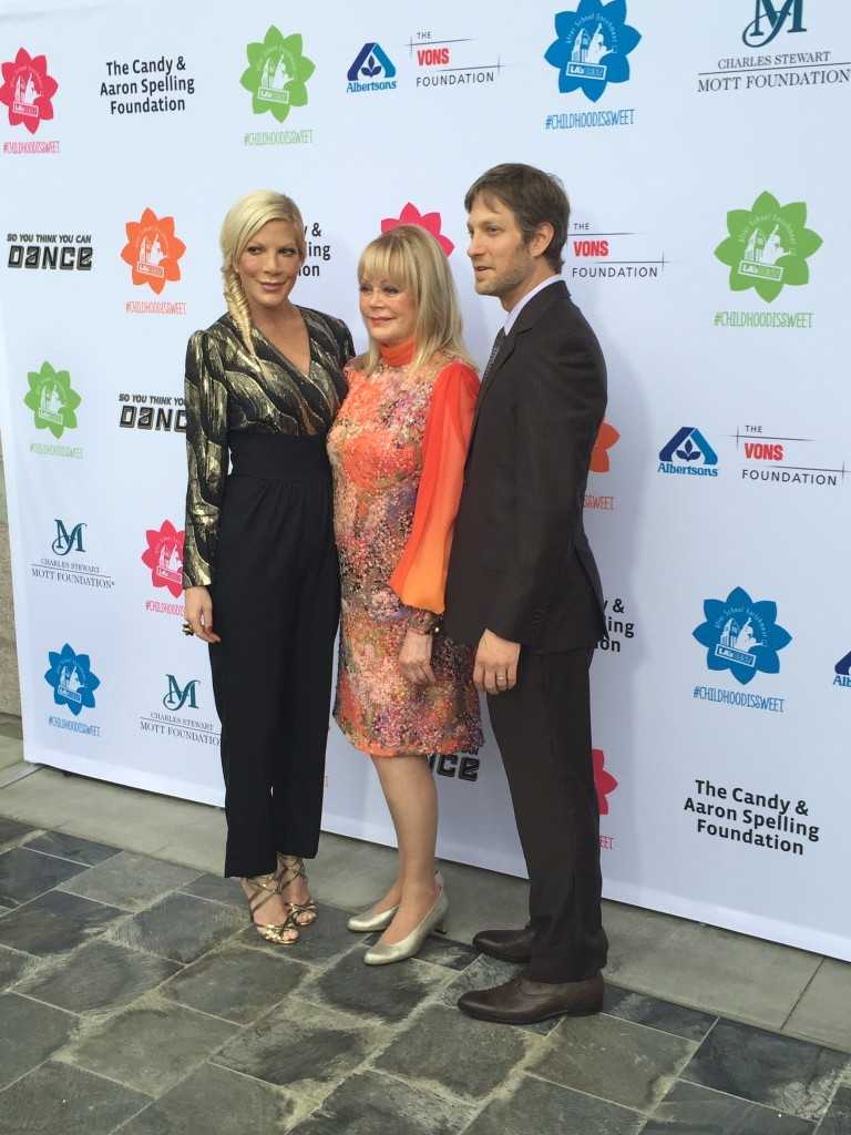 Candy Spelling with children, Tori and Randy