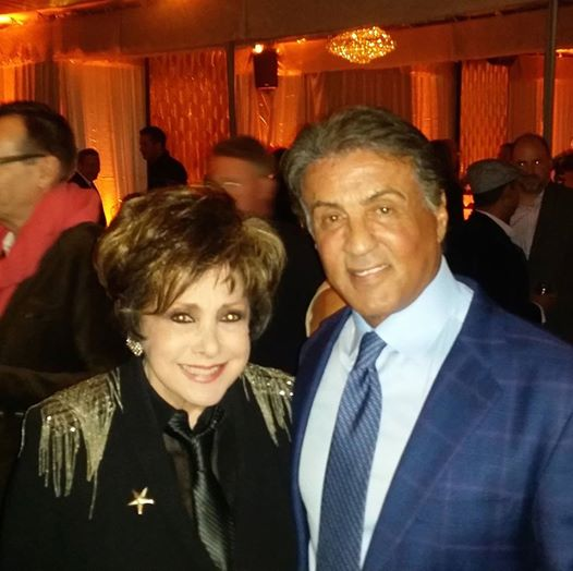 Jeanne with Sylvester Stallone