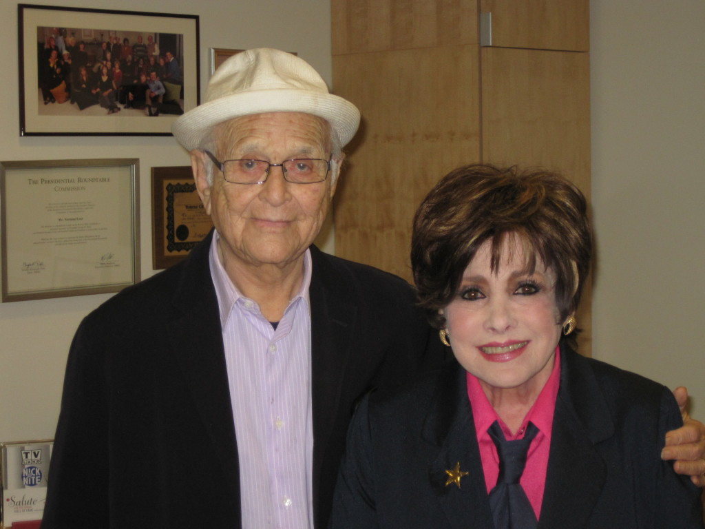 Jeanne with Norman Lear
