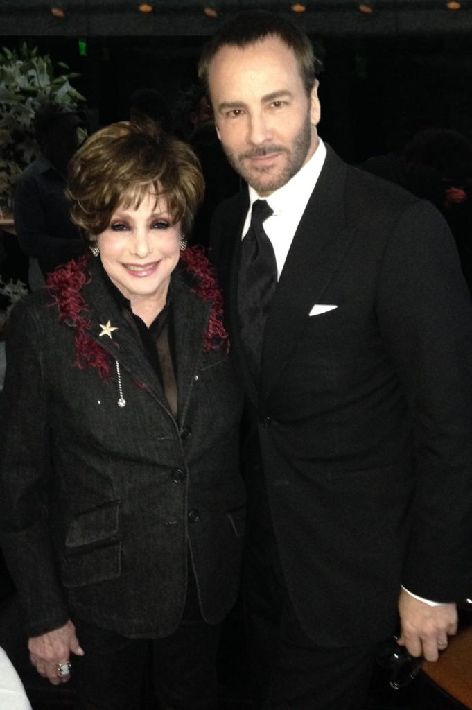 Jeanne Wolf with Tom Ford